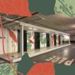 Murales Edificio Apoquindo 2929. Um projeto de Arte urbana e Criatividade de Trini Guzmán (holaleon) - 07.06.2019