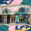 Mural Casona General Holley. Um projeto de Arte urbana e Criatividade de Trini Guzmán (holaleon) - 07.06.2019