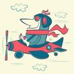 Jimmy Doolittle, aviador. Un proyecto de Diseño de personajes, Ilustración vectorial, Ilustración digital e Ilustración infantil de Ed Vill - 14.06.2019