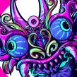 Diablada Head. Un proyecto de Dibujo e Ilustración digital de Heber Villar Liza (Nimrod) - 23.06.2019