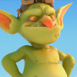 "Goblin para Ubisoft ""Cinemática 1"". A 3D, 3D Animation, 3d modeling, and 3D Character Design project by Miguel Miranda - 06.27.2019"