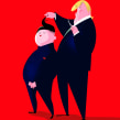 Trump & Kim. Un proyecto de Ilustración, Diseño de personajes, Ilustración vectorial e Ilustración de retrato de Jorge Arévalo - 30.06.2019
