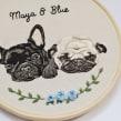 Retratos Maya & Blue . A Embroider project by Valentina Castillo - 07.17.2019