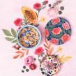 Cerámicas. Un proyecto de Ilustración, Dirección de arte, Bellas Artes, Papercraft y Cerámica de Josefina Jiménez - 30.07.2018
