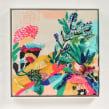 """Obra """"Before Sunset"""" para exhibición en  Ladies Part Show en Victoria, BC, Canada. Un proyecto de Pintura y Bordado de Katy Biele - 01.05.2019"""