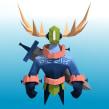 Mi Proyecto del curso: Modelado de personajes low poly para videojuegos . Un proyecto de 3D de Daniel Gutiérrez - 13.05.2019