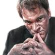 Quentin Tarantino (El Mundo). Um projeto de Ilustração, Desenho, Pintura em aquarela, Ilustração de retrato, Desenho de Retrato, Desenho realista e Desenho artístico de Carlos Rodríguez Casado - 21.08.2019