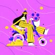 Hortencia. Un proyecto de Ilustración, Diseño de personajes y Dibujo de Chabaski - 04.09.2019