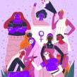 Día de la mujer. Un proyecto de Ilustración de Catalina Vásquez - 16.03.2019