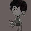 Octopus Kid. Um projeto de Design de personagens e Ilustração digital de Iker J. de los Mozos - 04.10.2019