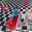 Vitrina para Hermès, 2018 Royal Love. Um projeto de Design e Criatividade de Kiosco Creativo - 15.10.2019