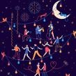 Calendario Abanca. Um projeto de Ilustração, Design editorial, Desenho e Ilustração digital de Carlos Arrojo - 25.11.2019