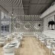 Restaurante nórdico. Un proyecto de Diseño de interiores y Modelado 3D de Alejandro Soriano - 29.10.2019