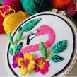 Flamenco. A Embroider project by Nayla Marc - 10.30.2019