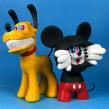 Anxious Mickey & Manic Pluto. Um projeto de Artesanato e Escultura de Luaiso Lopez - 12.11.2017