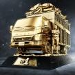 Camionero dorado. Un proyecto de 3D, Escultura, Retoque fotográfico, Ilustración digital y Modelado 3D de Jonathan Chafloque - 29.01.2019