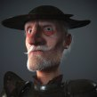Quijote 3D. A 3D, 3D Animation, 3d modeling, 3D Character Design, and Design 3D project by Miguel Miranda - 08.11.2017