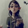 Goth-IT Girl. Un proyecto de 3D, Concept Art y Diseño de personajes 3D de Matias Zadicoff - 10.12.2019