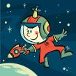 Astro: The 3030 Space Ranger. Un progetto di Illustrazione, Illustrazione vettoriale, Disegno a matita, Illustrazione digitale e Illustrazione infantile di Ed Vill - 11.12.2019