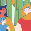 United Nation - Family Story. Un proyecto de Ilustración, Animación y Animación de personajes de Andrea Gendusa - 12.07.2019