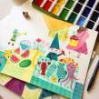 Maroma y la mariposa roja. Un proyecto de Diseño, Ilustración, Diseño de personajes, Diseño editorial, Dibujo a lápiz, Ilustración digital, Pintura a la acuarela e Ilustración infantil de Flavia Z Drago - 31.10.2016