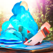 Libro pop up circular de 60 cm. Um projeto de 3D, Papercraft e Encadernação de Silvia Hijano Coullaut - 02.01.2020