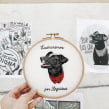 Negro Matapaco . A Embroider project by Valentina Castillo - 01.04.2020