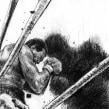 Boxeando con mis sombras. A Illustration, and Pencil drawing project by Santiago Guevara - 09.05.2017