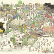 The city of Gallivare. A Illustration, Werbung, Verlagsdesign und Zeichnung project by Mattias Adolfsson - 28.01.2020