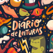 Diário de Leituras - TAG Livros. A Illustration, Editorial Design, and Digital illustration project by Isadora Zeferino - 06.03.2019