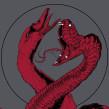 Gig Poster: Swans. Un proyecto de Ilustración y Diseño de carteles de Mike Sandoval - 06.10.2016