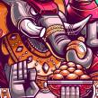 Tattoo design. Um projeto de Design, Ilustração, Direção de arte, Design de personagens, Ilustração vetorial, Ilustração digital e Ilustração de retrato de Edgar Rozo - 04.02.2020