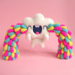 Happy Tears Cloud. Um projeto de Design de personagens, Artesanato, Artes plásticas, Escultura, To e Art de droolwool - 04.02.2020
