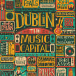 Music Capital. A Illustration, Lettering, and Poster Design project by Steve Simpson - 02.05.2014