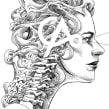 7º aniversario Casatinta. Un proyecto de Ilustración, Dibujo, Ilustración digital, Ilustración de retrato, Dibujo de Retrato y Dibujo artístico de ZURSOIF Miguel Bustos Gómez - 05.10.2019