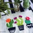 Cactus bordados + sublimación. Un proyecto de Bordado de Nayla Marc - 17.02.2020