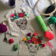 Calavera. A Embroider project by Nayla Marc - 02.17.2020