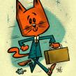 Gato al trabajo!. A Illustration, Digital illustration, and Children's book illustration project by Ed Vill - 02.19.2020