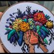 Flores y más flores. Un proyecto de Bordado de Coricrafts - 20.02.2020