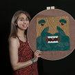 Mi Proyecto del curso: Bordado XL con aguja mágica. A Crafts, and Embroider project by Caro Bello - 02.22.2020