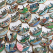 Series of city hand embroideries. A Embroider project by Kseniia Guseva - 02.28.2020