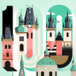 'City of 100 Spires' Type Illustration. A Illustration, and Digital Lettering project by Birgit Palma - 05.13.2019