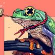 RANA vs MACAW. Un proyecto de Ilustración e Ilustración digital de Dani Blázquez - 08.04.2020