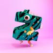 Monster Clothes Alphabet. Un proyecto de 3D, Animación de personajes, Animación 3D, Diseño de moda, Modelado 3D, Diseño de personajes 3D, Diseño 3D y Lettering 3D de Bernat Casasnovas Torres - 08.04.2020