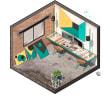 AXOS X. A 3-D, Architektur, Grafikdesign, Innenarchitektur, Collage, Urban Art, Digitale Architektur und Kommunikation project by Fernando Neyra Moreta - 20.04.2018