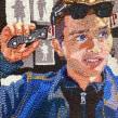 Pierre at Halloween Adventure. Un proyecto de Pintura, Ilustración de retrato, Bordado, Costura, Dibujo de Retrato y Dibujo artístico de Camille Labarre - 13.04.2020