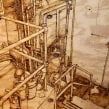 Boiler Room. A Artistic drawing, Woodworking, and Digital Drawing project by Camille Labarre - 05.05.2014