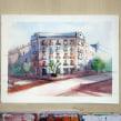 Proyecto: Arquitectura en acuarela de @alexhillkurtzart. Un proyecto de Pintura a la acuarela de Ale Casanova - 09.05.2020