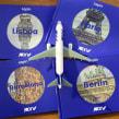 """Travel books collection for french airline """"Joon"""" by Air France.. Un proyecto de Ilustración, Diseño editorial, Bocetado y Sketchbook de Lapin - 01.10.2018"""