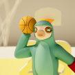Dazzy Dunk. Un proyecto de Diseño de personajes, Arte urbano, Animación de personajes, Animación 3D, Diseño de personajes 3D y Diseño 3D de Jaime Alvarez Sobreviela - 27.05.2020